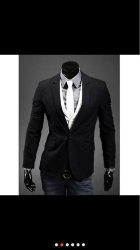 Black suit blazer for man