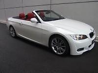 BMW 320i Cabriolet ( white ) for rent
