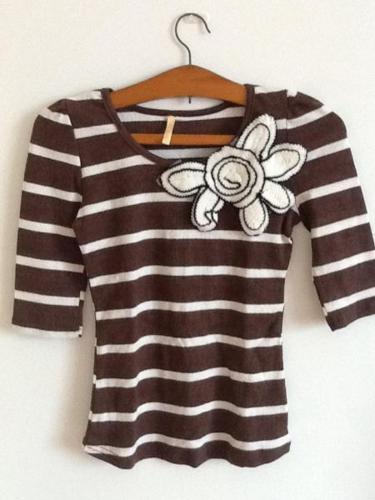 BN Striped Short Sleeve Top