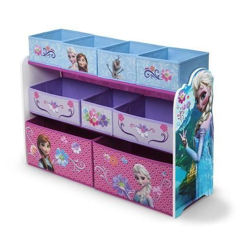 BNIB Frozen Disney Jumbo 9 bins Toy Storage Rack