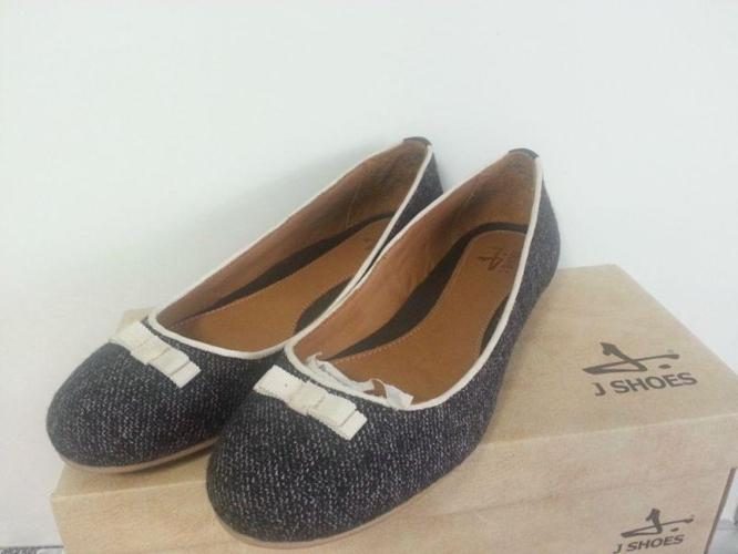 BNIB jshoes tweed leather ballerina flat shoes