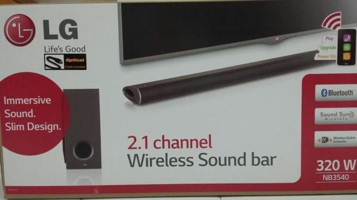 BNIB LG 2.1 Channel Wireless Soundbar NB3540 for Sale