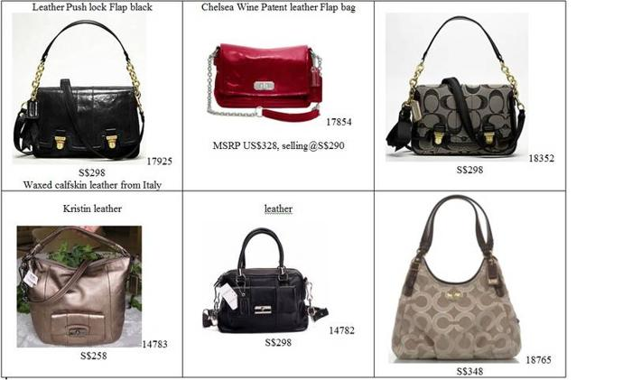 BNWT COACH tote, hobo for Sales from 258-348