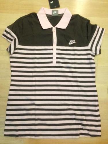 BNWT Nike Pink Green Stripe Shirt