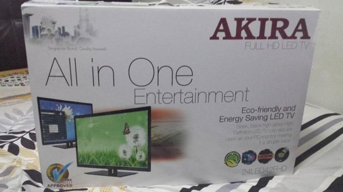 Brand New AKIRA FULL HD LED TV (24LED42FHD) + free tv