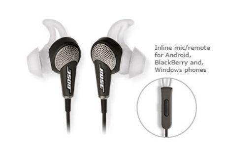 BRAND NEW BOSE QC20 Noise Cancelling in-ear headphones
