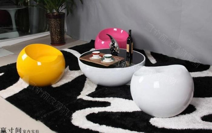 Brand New fiberglass ball shape coffee table