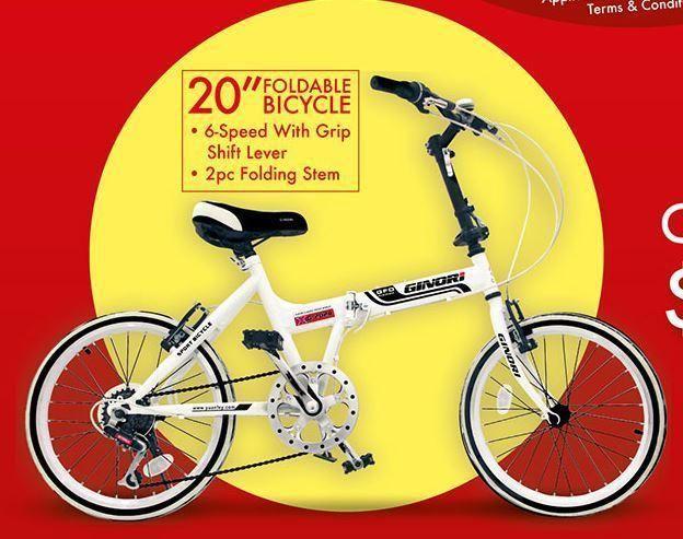 Brand New Foldable bike GINORI MODEL YS-701 WHITE COLOR