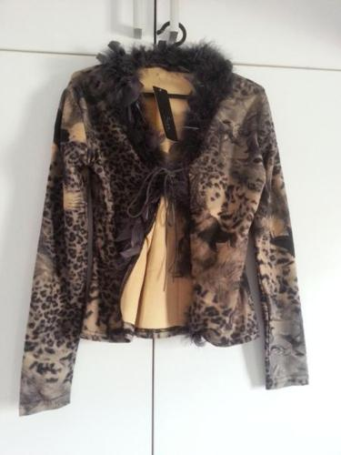 Brand New Leopard Print Velvety Jacket With feathery