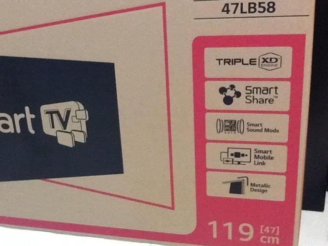 Brand new Lg smart Tv Led 47 inc in unopened box wth3yr warranty for