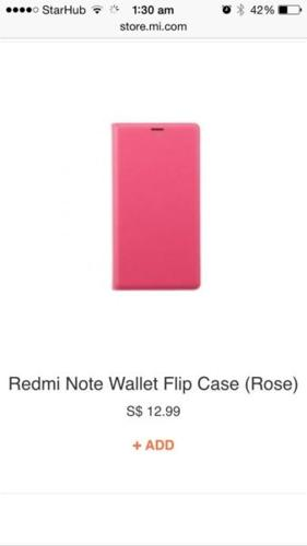 Brand New Redmi Note Flip Wallet Cover & Clear Screen