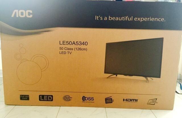 BRAND NEW & SEALED - AOC LED TV