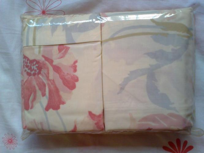 Branded Designer Friven Pink Floral Queen Fitted