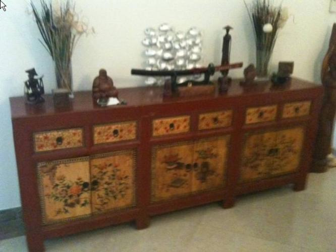 Cabinet - Gansu Firwood Painted - REDUCED TO SELL