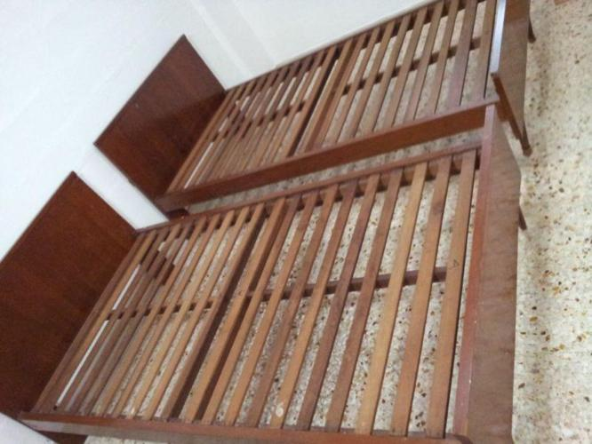 Call 91246789 for Used two Wooden Twin single bed frame