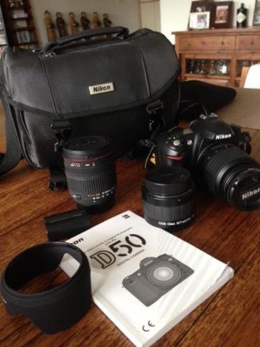Camera Nikon D50 with Nikon DX 18-55 lens