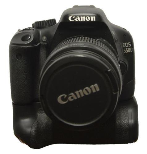 Canon 550D+18-55mm+BG-E8 Battery Grip+Canon 75-300mm+2