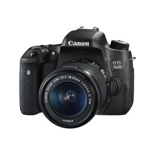 Canon 760D Camera Body + Canon 18-55mm EFS STM IS lens