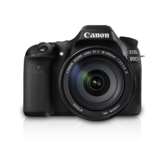 Canon 80D EOS DSLR Camera Body + Canon EF-S 18-200mm IS