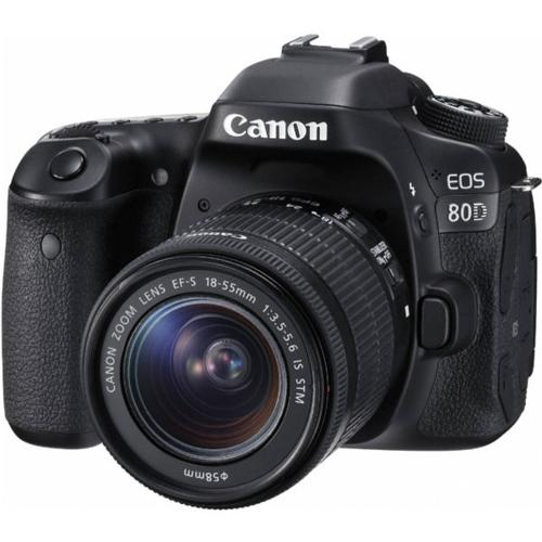 Canon 80D EOS DSLR Camera Body + Canon EF-S 18-55mm IS