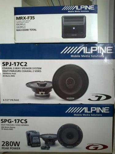 Car Alpine speakers & amplifier for cheap sale