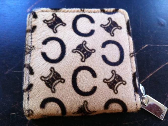 celine horse hair coin purse
