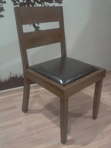 Chelsea Dining Study Chair Wood And Leather Cushion John