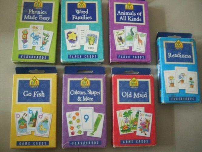 Children School Zone Flashcards (7 boxes)