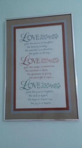 CLEARANCE SALES: WALL FRAMED PICTURE OF EMBROIDERED