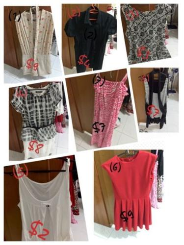 Clothes used for selling