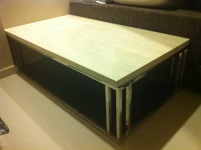Coffee table! Marble & stainless steel modern & stylish
