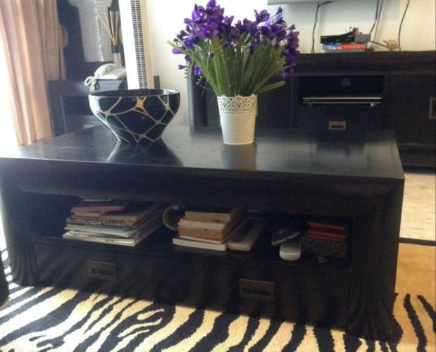 Coffee Table Together With Tv Console Lamp