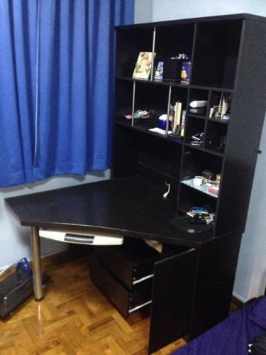 Computer table with book shelf