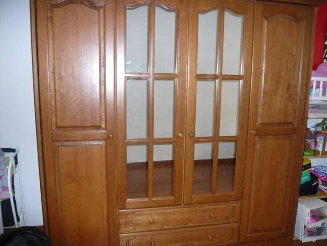 Country Style Walnut Wardrobe / Cupboard - $1,100 (UP
