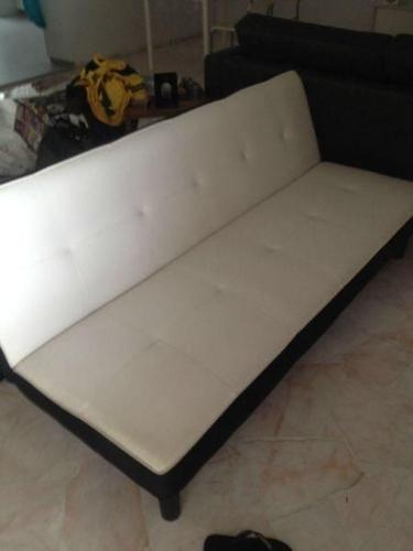 COURTS Sofa Bed in White and Black IKEA