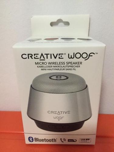 Creative Woof portable wireless speaker