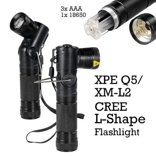 CREE FL02 XP-E Q5 (220LM)/ XM-L2 (400LM) L-SHAPE