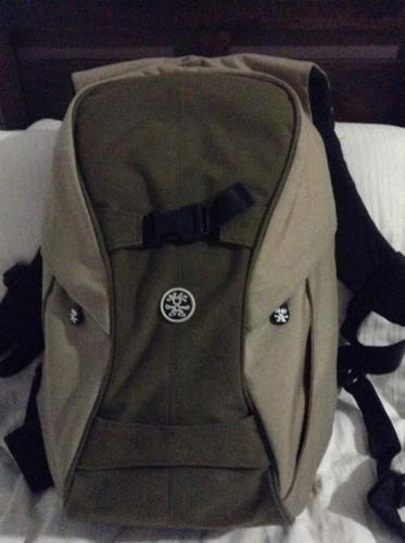 Crumpler camera backpack.