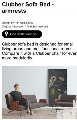 Danish Designer Sofa Bed