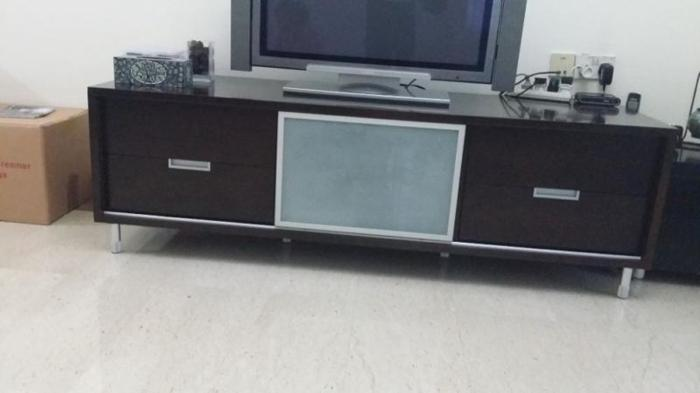 Dark Chocolate Brown TV Cabinet for Sale.