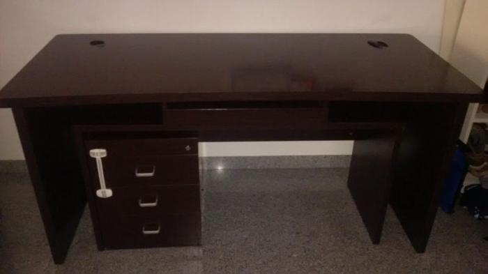 Dark wood desk for sale!