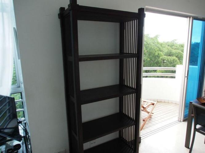 Dark Wood Indonesian Style Bookshelf