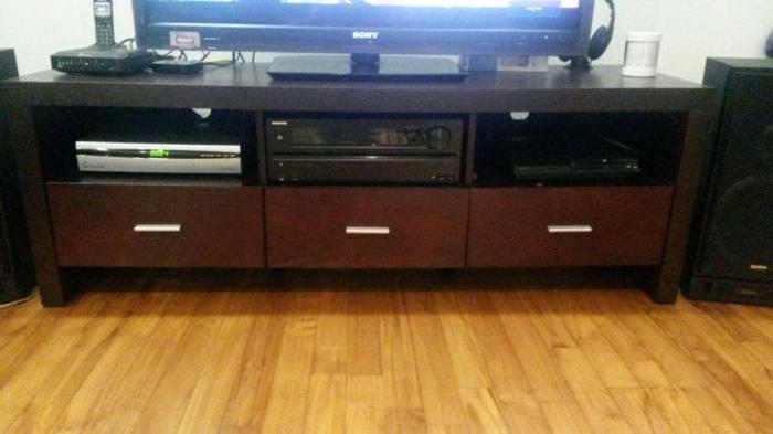 Dark Wood TV Stand and Console