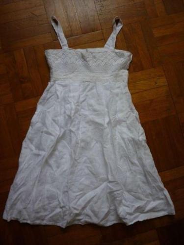 Designer dresses to clear allure noir white linen dress