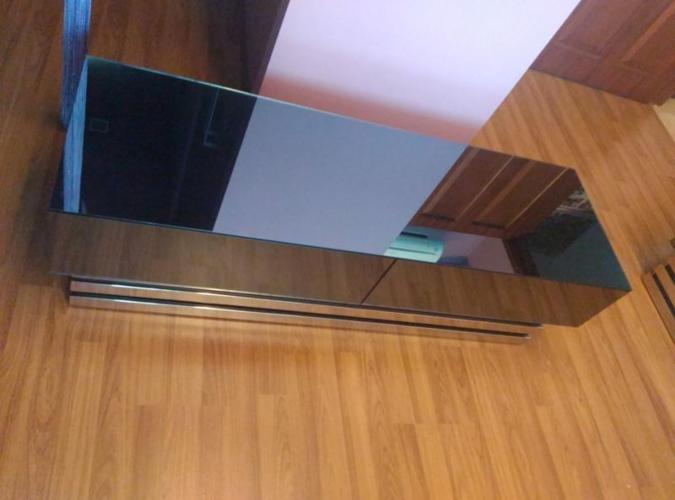 Designer tv console glass mirror
