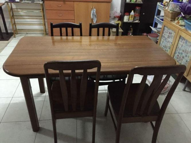 Dining table, Chair, Table with Draw, TV cabinet and