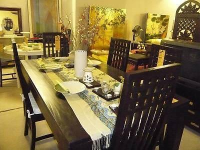 Dining Table & Chairs Package Teak Wood Furniture