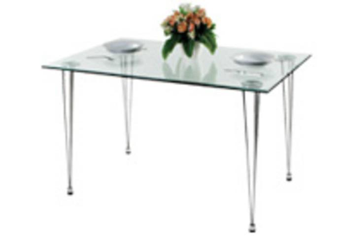 Dining Table (Glass) for sale at $99 (price negotiable)