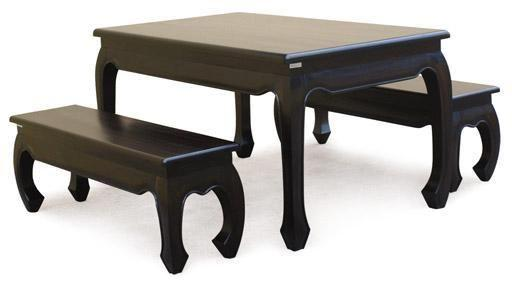 Dining Table with Bench or 6 Chairs, Warehouse Sale