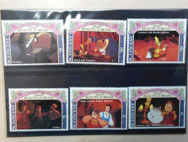 Disney Beauty & The Beast Stamps + Season's Greetings